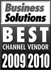 Business Solutions Best Channel Vendor 2009/2010