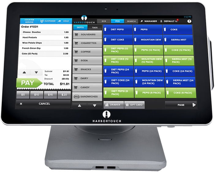 Small Business POS System Harbortouch Echo