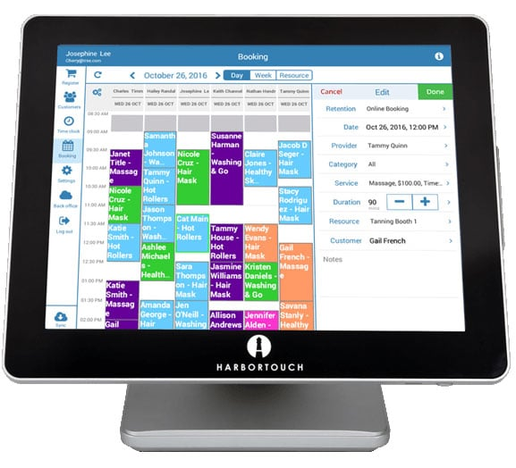 Harbortouch Salon and Spa POS System